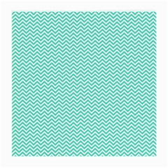 Tiffany Aqua Blue Chevron Zig Zag Medium Glasses Cloth