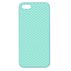 Tiffany Aqua Blue Chevron Zig Zag Apple Seamless iPhone 5 Case (Color)