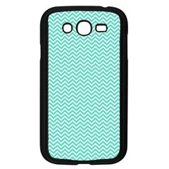 Tiffany Aqua Blue Chevron Zig Zag Samsung Galaxy Grand DUOS I9082 Case (Black)