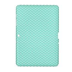Tiffany Aqua Blue Chevron Zig Zag Samsung Galaxy Tab 2 (10.1 ) P5100 Hardshell Case