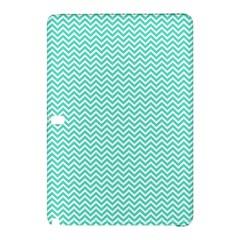 Tiffany Aqua Blue Chevron Zig Zag Samsung Galaxy Tab Pro 12.2 Hardshell Case