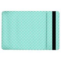 Tiffany Aqua Blue Chevron Zig Zag iPad Air Flip