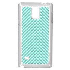Tiffany Aqua Blue Chevron Zig Zag Samsung Galaxy Note 4 Case (White)