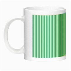 Classy Tiffany Aqua Blue Sailor Stripes Night Luminous Mugs
