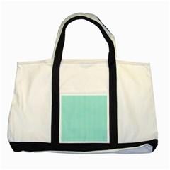 Classy Tiffany Aqua Blue Sailor Stripes Two Tone Tote Bag