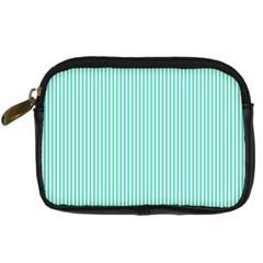 Classy Tiffany Aqua Blue Sailor Stripes Digital Camera Cases