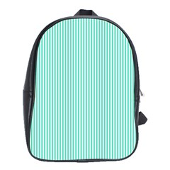 Classy Tiffany Aqua Blue Sailor Stripes School Bags (XL)