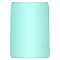 Classy Tiffany Aqua Blue Sailor Stripes Flap Covers (L)