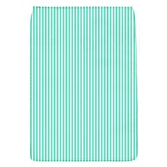 Classy Tiffany Aqua Blue Sailor Stripes Flap Covers (S)