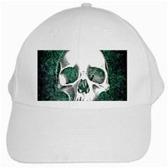 Green Skull White Cap