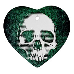 Green Skull Ornament (Heart)