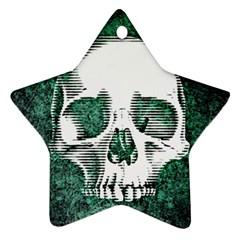 Green Skull Ornament (Star)