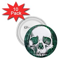 Green Skull 1.75  Buttons (10 pack)
