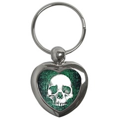 Green Skull Key Chains (Heart)