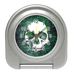 Green Skull Travel Alarm Clocks