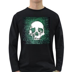 Green Skull Long Sleeve Dark T-Shirts