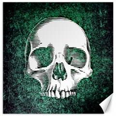 Green Skull Canvas 16  x 16