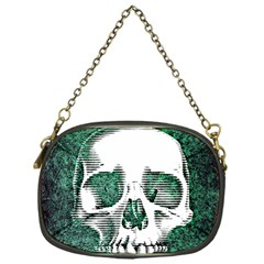 Green Skull Chain Purses (One Side)