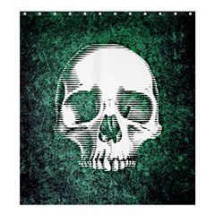 Green Skull Shower Curtain 66  x 72  (Large)