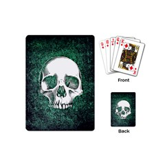 Green Skull Playing Cards (Mini)