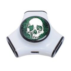 Green Skull 3-Port USB Hub