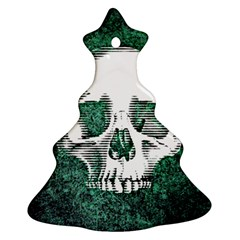 Green Skull Christmas Tree Ornament (Two Sides)