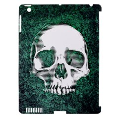 Green Skull Apple iPad 3/4 Hardshell Case (Compatible with Smart Cover)