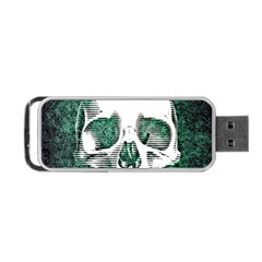 Green Skull Portable USB Flash (Two Sides)