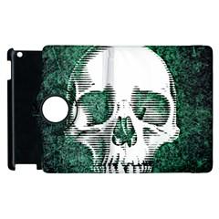 Green Skull Apple iPad 2 Flip 360 Case