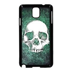 Green Skull Samsung Galaxy Note 3 Neo Hardshell Case (Black)
