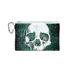 Green Skull Canvas Cosmetic Bag (S)
