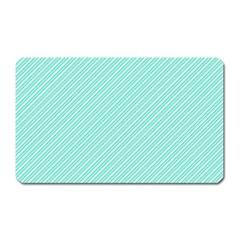 Tiffany Aqua Blue Deckchair Stripes Magnet (Rectangular)