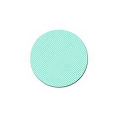 Tiffany Aqua Blue Deckchair Stripes Golf Ball Marker (10 pack)