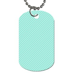 Tiffany Aqua Blue Deckchair Stripes Dog Tag (Two Sides)