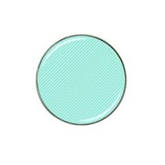 Tiffany Aqua Blue Deckchair Stripes Hat Clip Ball Marker (10 pack)