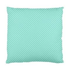 Tiffany Aqua Blue Deckchair Stripes Standard Cushion Case (One Side)