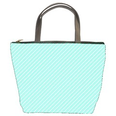Tiffany Aqua Blue Deckchair Stripes Bucket Bags
