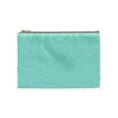 Tiffany Aqua Blue Deckchair Stripes Cosmetic Bag (Medium)