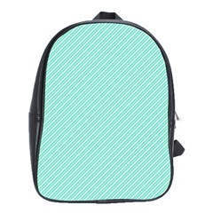 Tiffany Aqua Blue Deckchair Stripes School Bags(Large)