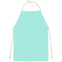Tiffany Aqua Blue Deckchair Stripes Full Print Aprons