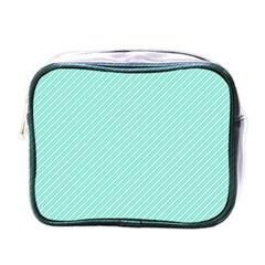 Tiffany Aqua Blue Deckchair Stripes Mini Toiletries Bags