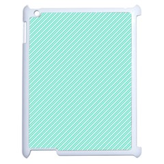 Tiffany Aqua Blue Deckchair Stripes Apple iPad 2 Case (White)