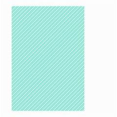 Tiffany Aqua Blue Deckchair Stripes Small Garden Flag (Two Sides)