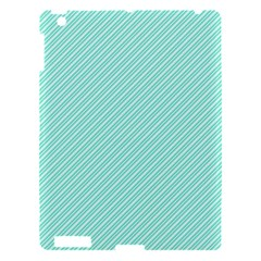 Tiffany Aqua Blue Deckchair Stripes Apple iPad 3/4 Hardshell Case