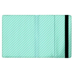 Tiffany Aqua Blue Deckchair Stripes Apple iPad 3/4 Flip Case