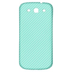 Tiffany Aqua Blue Deckchair Stripes Samsung Galaxy S3 S III Classic Hardshell Back Case