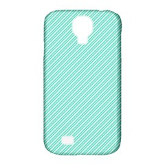 Tiffany Aqua Blue Deckchair Stripes Samsung Galaxy S4 Classic Hardshell Case (PC+Silicone)