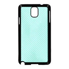 Tiffany Aqua Blue Deckchair Stripes Samsung Galaxy Note 3 Neo Hardshell Case (Black)