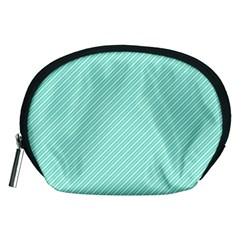 Tiffany Aqua Blue Deckchair Stripes Accessory Pouches (Medium)