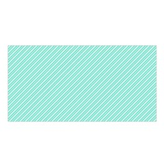 Tiffany Aqua Blue Deckchair Stripes Satin Shawl